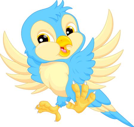 Niedlicher Vogel Cartoon Standard-Bild - 48471569