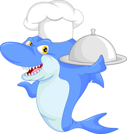 sharks: chef shark cartoon
