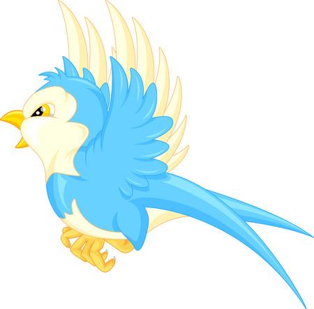 cartoon trees: Flying bird cartoon