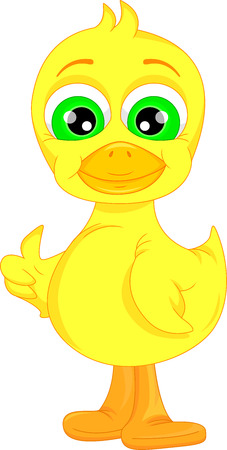 squeak: Cute baby duck cartoon thumb up