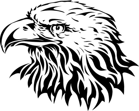 dignity: silhouette of eagle head