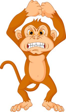 angry animal: angry monkey cartoon Illustration