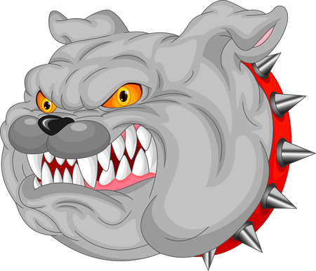wrinkled face: Bulldog Mascot Cartoon