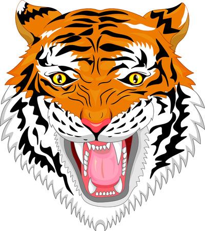 tiger head: tiger head mascot