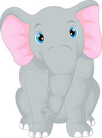 baby illustration: cute baby elephant cartoon