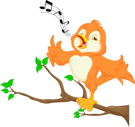 birdsong: Cute bird singing