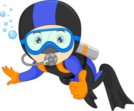 leuke jongen snorkelen