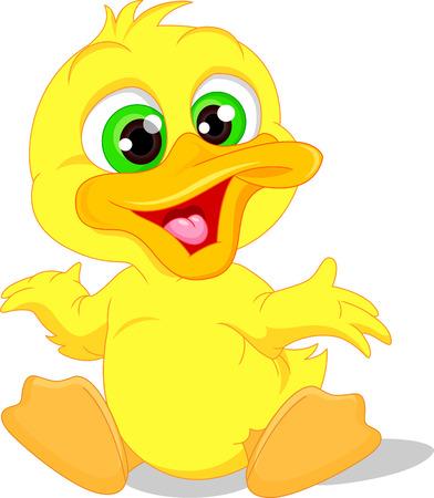 Dibujos animados lindo pato bebé Ilustración de vector