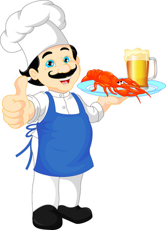 cooker: chef cartoon thump up Illustration