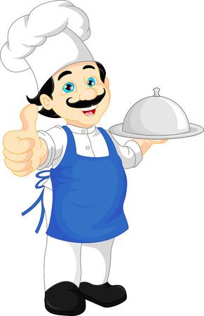 kiddies: chef cartoon thump up Illustration