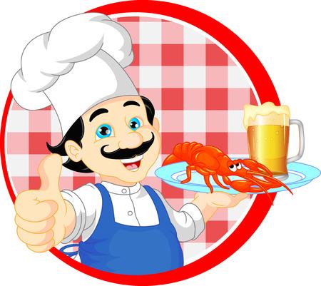 chef cartoon thump up Illustration