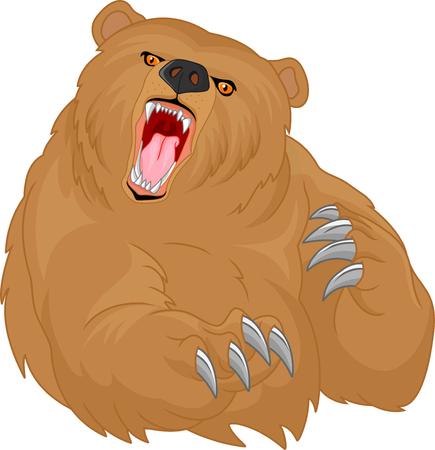 colère dessin animé ours