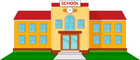 Schoolgebouw cartoon