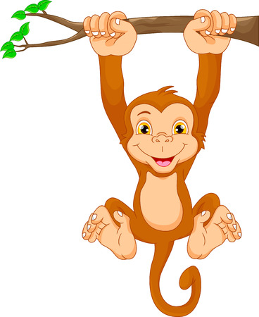 show plant: Cute monkey cartoon