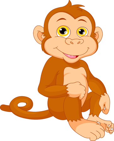 thumping: Cute baby monkey cartoon