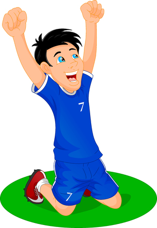 kiddish: soccer player celebrate goal