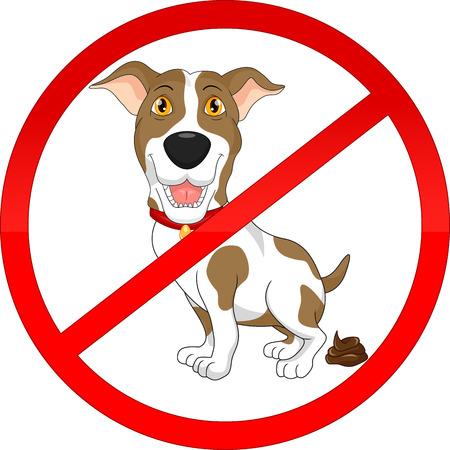 Aucun signe de pooping chien