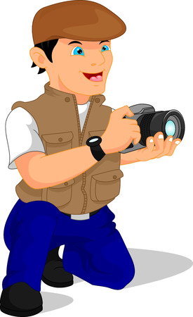 male photographer posing