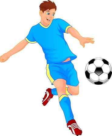 bounce: cute boy soccer player