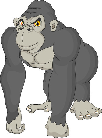 cute gorilla cartoon