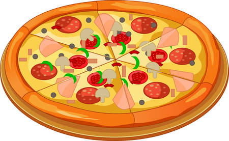 Pizza on the board Illustration