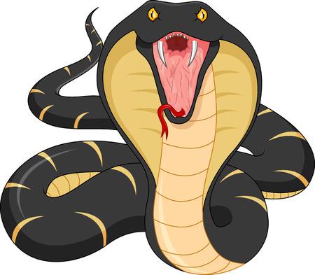 Serpiente de la historieta enojado