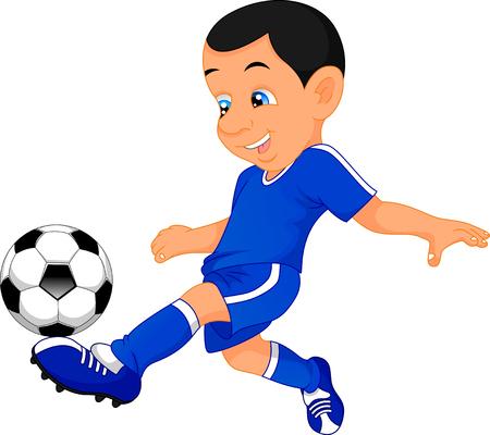 kids football: cute boy soccer player