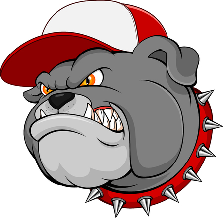 barking: Bulldog Mascot Cartoon