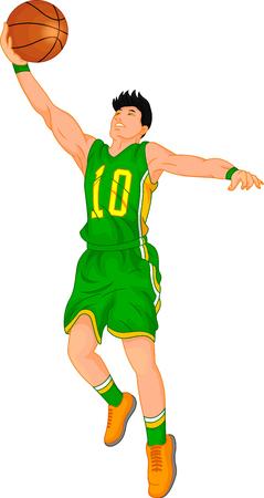 Basketball player Vectores