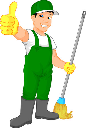cleaning service thumb up Illustration