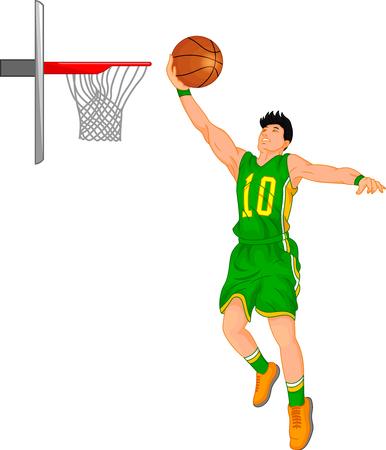 A boy basketball player illustration. Illustration