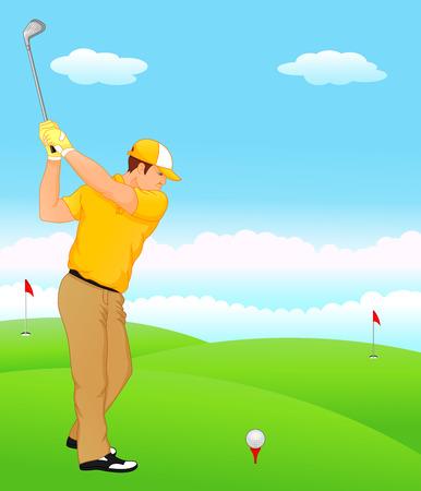 boy cartoon golf player