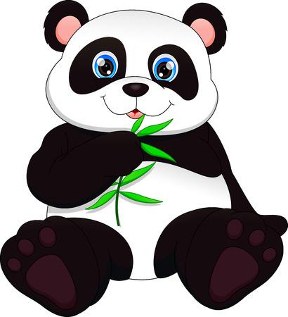 Lindo bebé panda gracioso