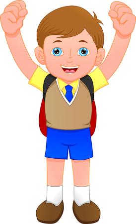 cute school boy Ilustración de vector