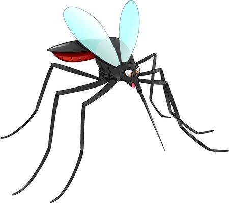 dessin animé de moustique sur fond blanc Vecteurs
