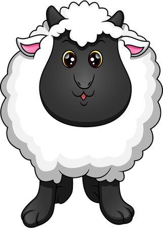 cute sheep cartoon Ilustrace