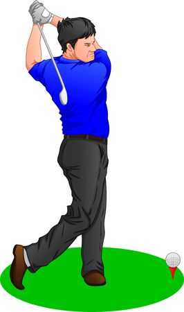 golf player on a white background