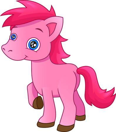 cute little pony Иллюстрация