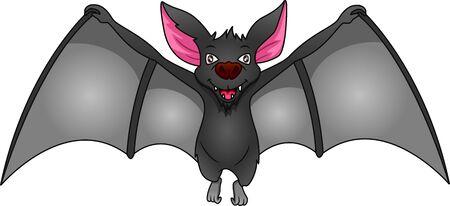 cute bat cartoon on a white background