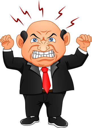 angry boss. businessman is angry