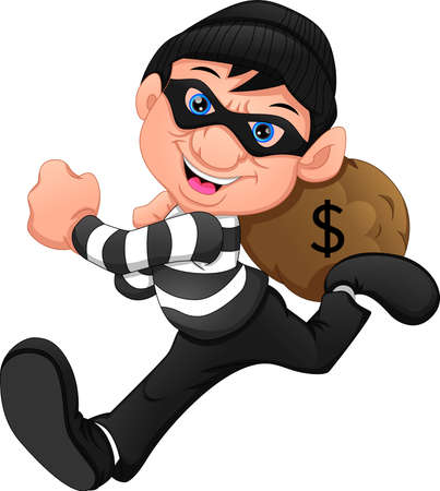 Thieves ran away with money