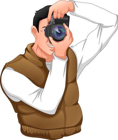 photographer posing Ilustración de vector