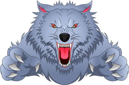 wolf cartoon Vektorgrafik