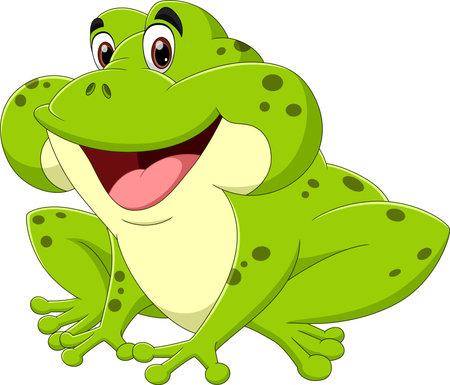 Green frog cartoon