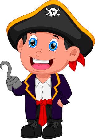 cartoon boy wearing a pirate costume