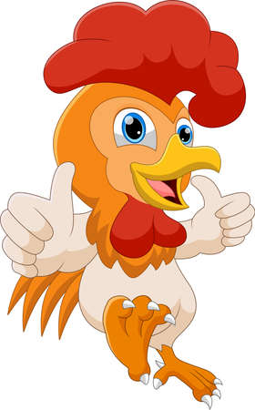 cartoon rooster thumbs up