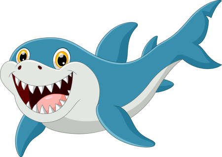 funny shark pose with smile