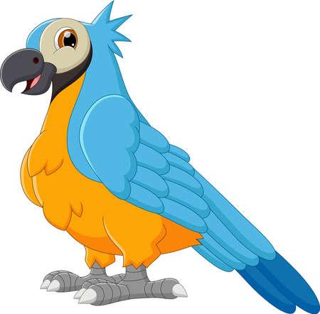 cute parrot cartoon pose Vektoros illusztráció