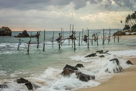 srilanka: Srilanka Stilt Fishing