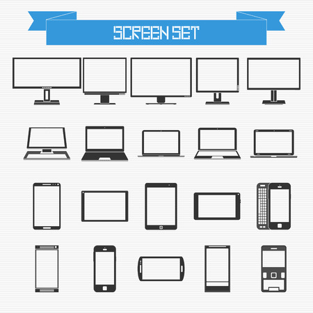 Vector set of different screens for your design Vector
